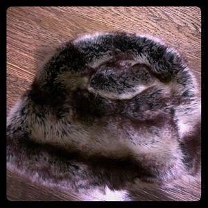 Faux fur women's winter hat